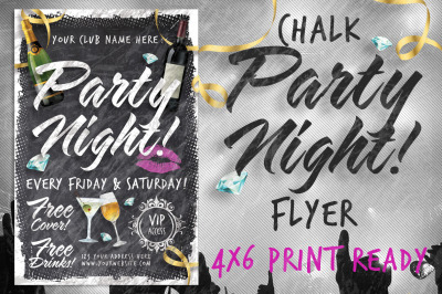Chalk Party Night Flyer