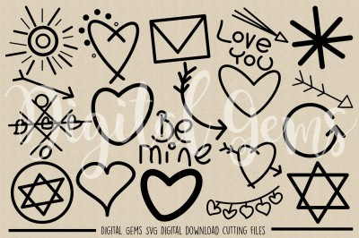 Doodle, Hand Drawn SVG / DXF / PNG Files