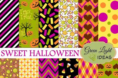 Sweet Halloween Digital Papers