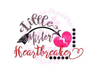 Valentine's Day SVG * Little Mister Heartbreaker SVG * Heartbreaker SVG * Love SVG * Heart SVG * Valentine SVG * Baby Valentine SVG * Baby SVG * Little Mister SVG *