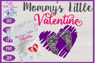 Valentine's Day SVG | Maternity SVG | Mommy's Little Valentine SVG | P