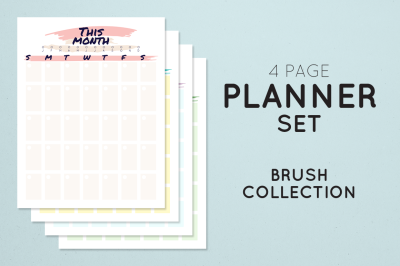 Brush Planner Set Collection