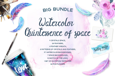 Watercolor Quintessence of space