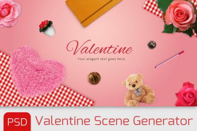 Loveitems scene generator with PSD