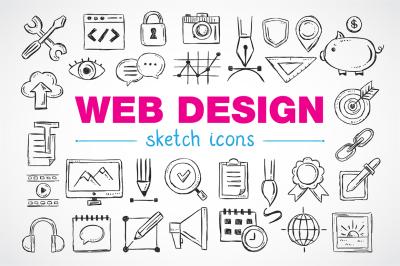 Web design sketch icons