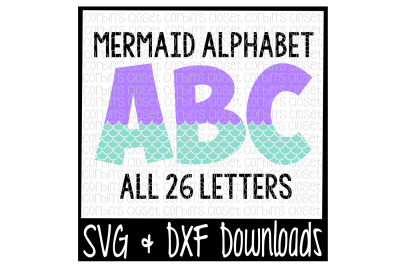 Mermaid Alphabet * Mermaid Pattern Cut File