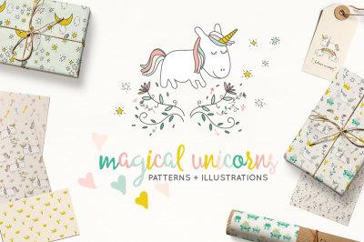 Fairytale Unicorns Patterns + Illustrations