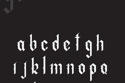 Indigo handcrafted typeface