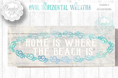 Bundled Set of 15 - Horizontal Sign Wreaths- SVG Stencil- Cut file