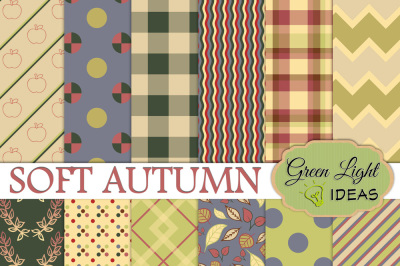 Soft Autumn Digital Papers