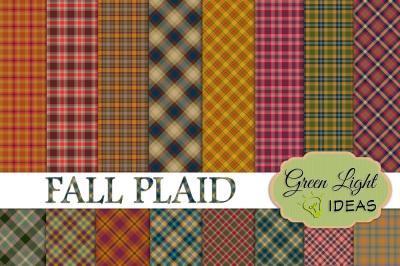 Fall Plaid Digital Papers