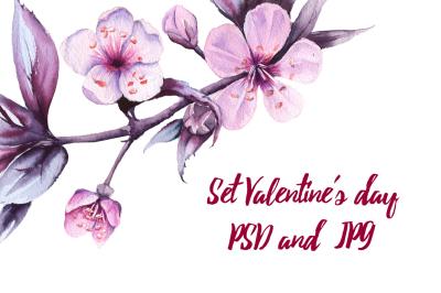 Set Valentine's day