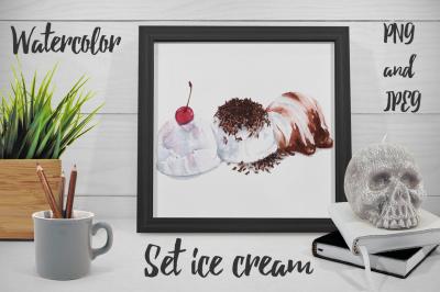 Set ice cream
