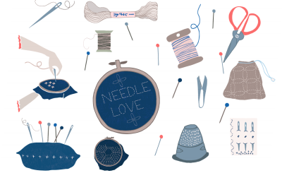 Embroidery Clip Art Set