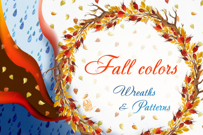 Fall colors. Wreaths & Patterns