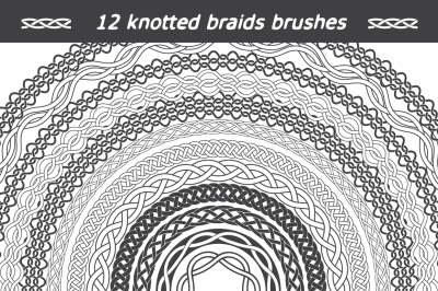 12 knotted braids brushes