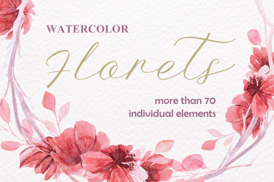 Watercolor Florets