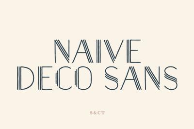 Naive Deco Sans Font Pack