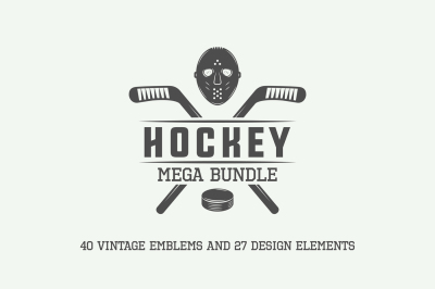 Vintage Hockey Emblems Bundle