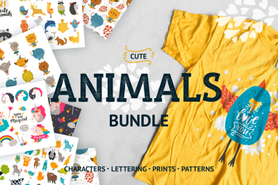 Cute Animals BUNDLE • 62% OFF