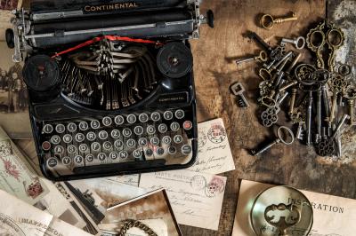 Vintage typewriter Nostalgic Still life