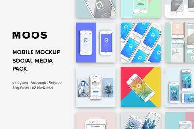 Moos - Mobile Mockup Social Media