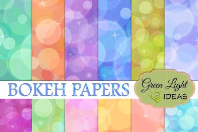 Bokeh Digital Papers, Bokeh Digital Backgrounds