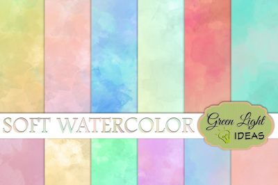 Soft Watercolor Textures