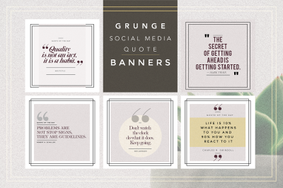 GRUNGE Social Media Quote Banners