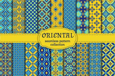 Oriental seamless patterns