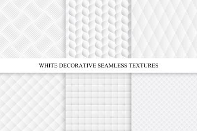 Decorative white soft textures set