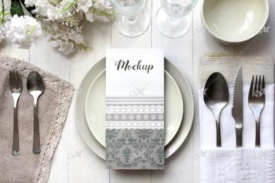 Light table Card Mockup. PSD smart