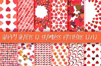 Happy hearts 12 patterns