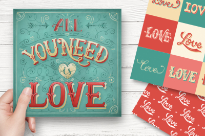 Hand-lettering valentines cards