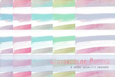 colorful watercolour stripes paper,