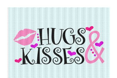 Hugs and Kisses Cutting/ Printing Files for Cameo/ Cricut & More.