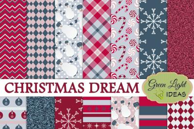 Christmas Dream Digital Papers