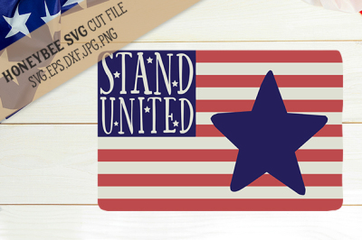 Stand United Flag cut file