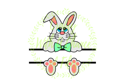 Easter SVG * Split Bunny SVG * Split Boy Easter Basket SVG * Easter Monogram Frame SVG * Split Bunny Design SVG *