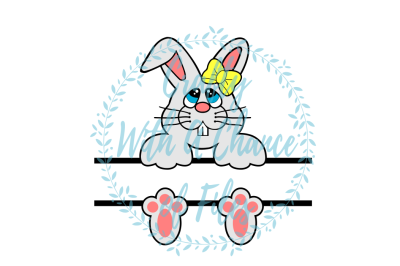 Easter SVG * Split Bunny SVG * Split Girl Easter Basket SVG * Easter Monogram Frame SVG * Split Bunny Design SVG *