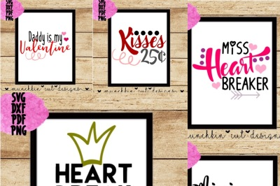 Valentine's Day Cutting File Design Bundle