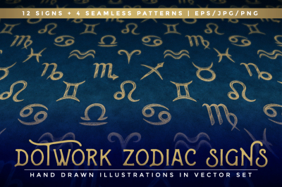Dotwork Zodiac Signs
