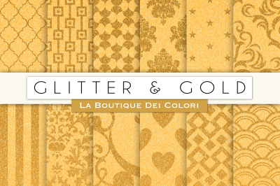 Glitter and Gold Texture Paper