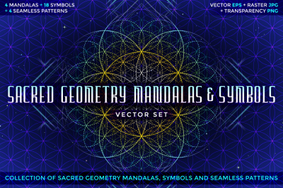 SACRED GEOMETRY MANDALAS & SYMBOLS