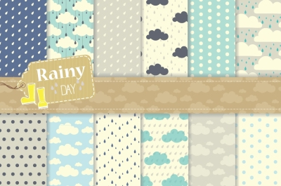 Rainy Day Digital Paper Set