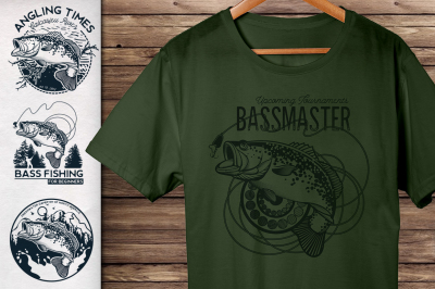 Vintage Bass Fishing Emblems