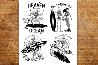 Skeleton Surfer set