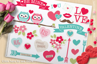 Be My Valentine Vector Clipart