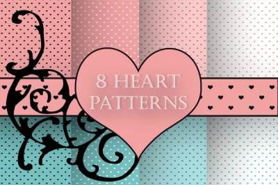 8 Heart patterns