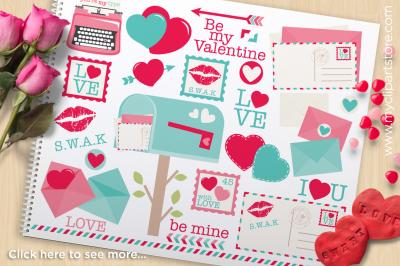 Love Letters Vector Clipart